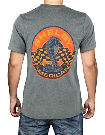 Shelby American Orange T-Shirt- Dark Heather Grey