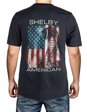 Shelby Patriotic Flag Dark Grey T-Shirt