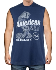 Shelby American Muscle Navy Tank