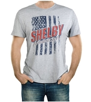 Men's Shelby American Flag Sport Grey T-Shirt
