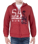 Youth Shelby American Red Zip Up Hoody