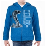 Youth Shelby Chrome Snake Blue Zip Up Hoody