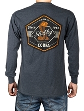 Original Cobra Heather Black Long Sleeve Tee