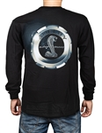 Gas Cap Super Snake Black Long Sleeve Tee