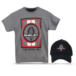 Youth Shelby Cobra Las Vegas Tee & Hat Combo