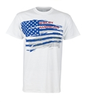 Shelby American Flag White Tee