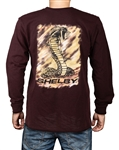 Shelby Snake Brush Strokes Sangria Long Sleeve Tee