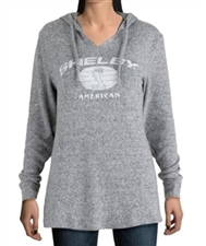 Ladies Shelby Hooded Grey Chamois Pullover