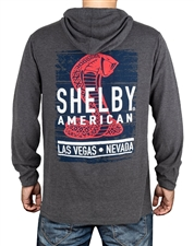 Shelby American LV Charcoal Hooded Long Sleeve