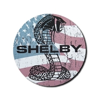 Shelby Patriotic Snake Circle High Profile Magnet