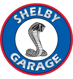 Shelby Garage Disc Metal Sign