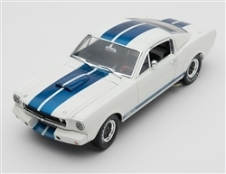 1:18 1965 White Shelby Mustang GT350R Diecast w/ CS signature