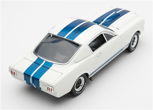 1 18 1965 White Shelby Mustang Gt350r Diecast W Cs Signature