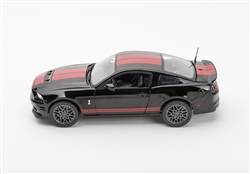 1:18 2013 Black GT500 Diecast w/ Red Stripes
