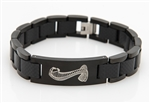 Carbon Fiber and Black Stainless Steel ID Bracelet