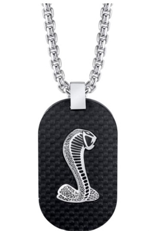 Carbon Fiber Dog Tag Necklace