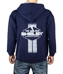 Shelby American Muscle Navy Zip Up Hoody