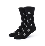 Skull and Wrenches Black Socks