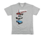 Made in USA Cars Heather Youth Tee