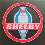 Shelby Cobra Medallion Cut-out Metal Sign - 12""