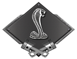 Ford Cobra Carbon Fiber Design Metal Sign