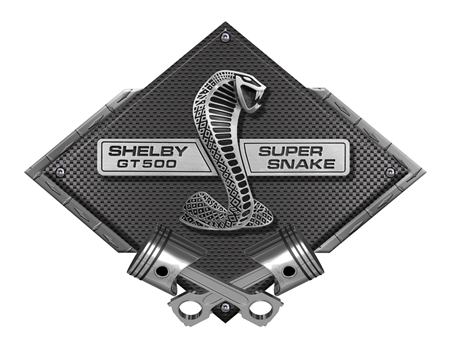 GT500 Super Snake Carbon Fiber Design Metal Sign