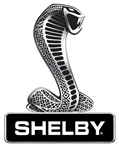 Snake over Shelby Metal Sign