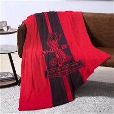 Shelby Lightweight Personalized Blanket- Red, Blue, or Carbon Fiber