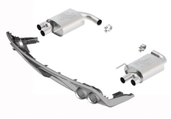 2015-2016 MUSTANG 2.3L ECOBOOST TOURING MUFFLER KIT WITH GT350 EXHAUST TIPS AND LOWER VALANCE (50-state legal)