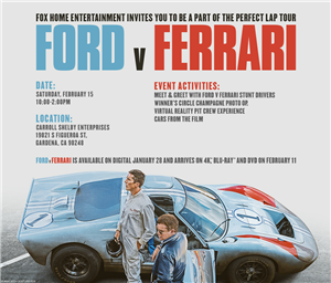 Ford v Ferrari - Perfect Lap Tour LA
