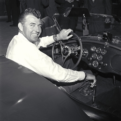 1963 Carroll Shelby in Cobra Production Car Canvas Art