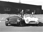 1964 Carroll Shelby with Cobras Framed Print with Double Mat