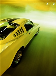 1965 Yellow Shelby GT350 Framed Print with Double Mat