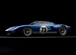 1964 GT40 Mk I #73 Framed Print with Double Mat