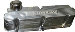 Shelby FE Finned Valve Cover - Polished Finish