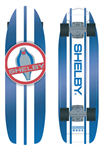 Blue Cobra Aluminum Higgs Skateboard with White Stripes