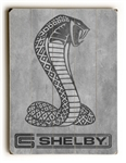 CS Shelby Snake Weathered Grey Wooden Sign