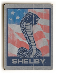 US Flag Shelby Snake Wooden Sign