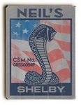 Customized US Flag Shelby Snake Wooden Sign