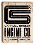 CS Engine Co Wooden Sign