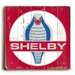 Shelby Cobra Medallion Wooden Sign