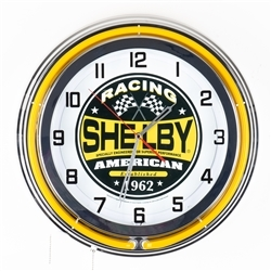 "19"" Yellow Shelby American Racing Clock"