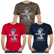 Personalized Shelby Snake T-Shirt - Navy, Red, or Camo